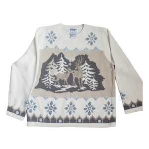 Vintage Festive Winter Theme Alfred Dunner Sweater